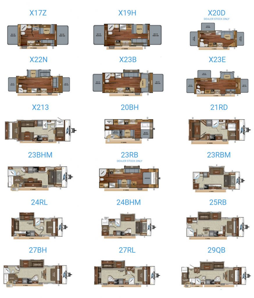 Jayco Jay Feather floorplans